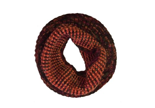 Moncloa Loop scarf Coral Orange, 100% Merino Wool