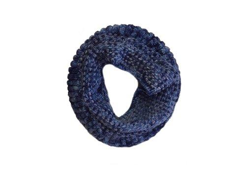 Moncloa Bufanda loop Coral Azul, 100% lana Merino