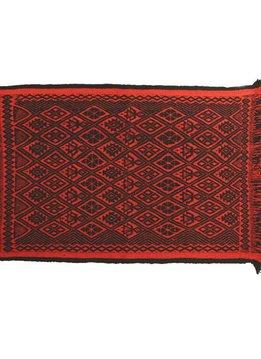 Carpet Mapuche Red Black, 150x100cm, 100% Sheep Wool