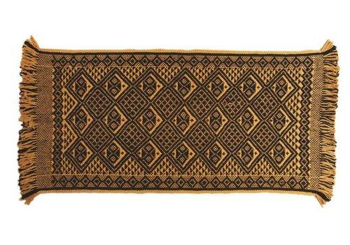 Teppich Mapuche Gelb Schwarz, 150x70 cm, 100% Schafwolle