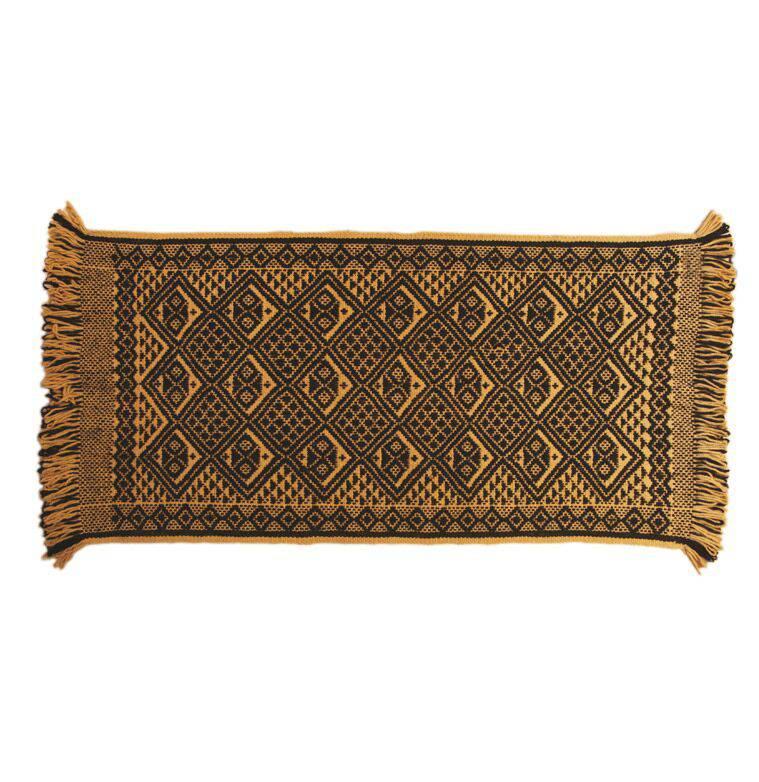 teppich mapuche gelb schwarz 150x70 cm 100 schafwolle south embassy. Black Bedroom Furniture Sets. Home Design Ideas