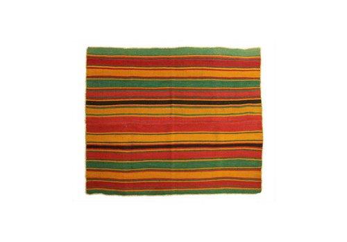 "Alfombra ""Frazada Boliviana"", 150x150cm, 100% lana de alpaca"