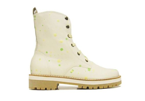 "Matices Ankle Boots ""Lime Splat"" 100% Leather"