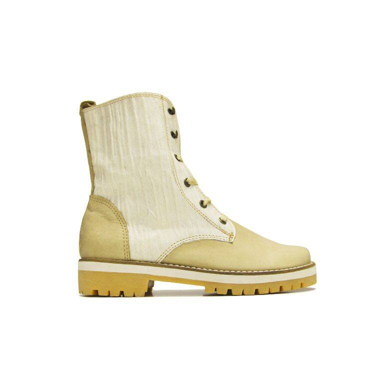 "Matices Ankle Boots ""Cream White"" 100% Leather"