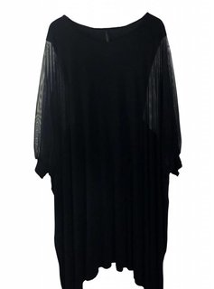 Claudia Vitali Unica Dress with transparent transparent sleeves detail