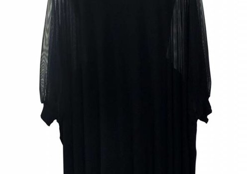 Claudia Vitali Unica Kleid mit transparentem Ärmeldetail