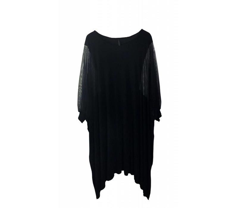 Unica Kleid mit transparentem Ärmeldetail