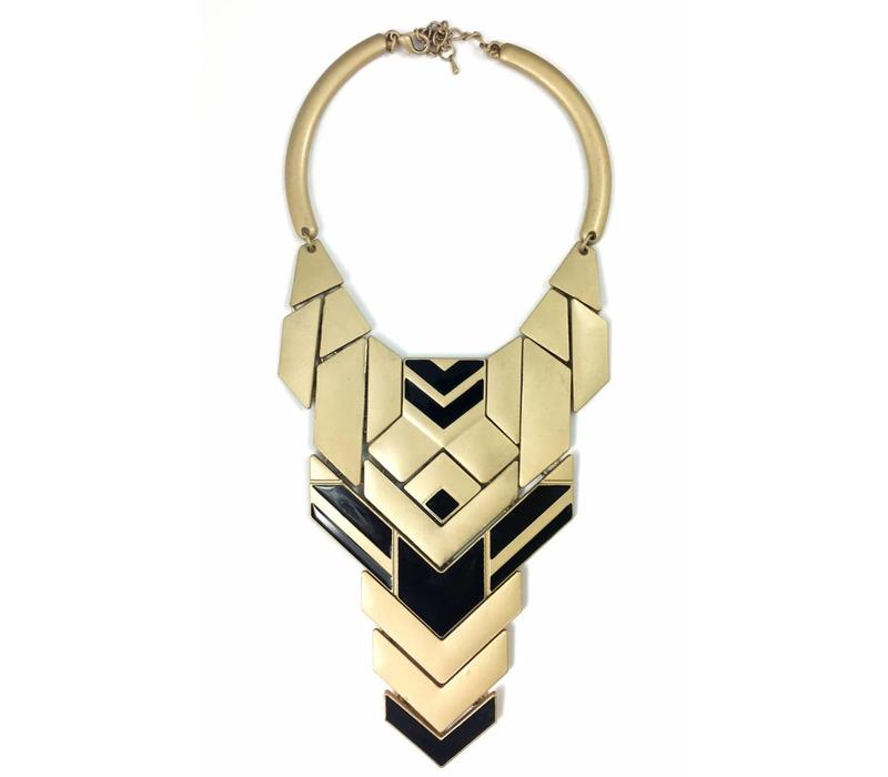 Necklace Rayos, gold