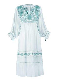 Santa Lupita Vestido Eden Garden Dress White Mint