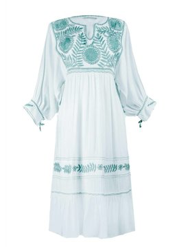 Santa Lupita Kleid Eden Garden Dress White Mint