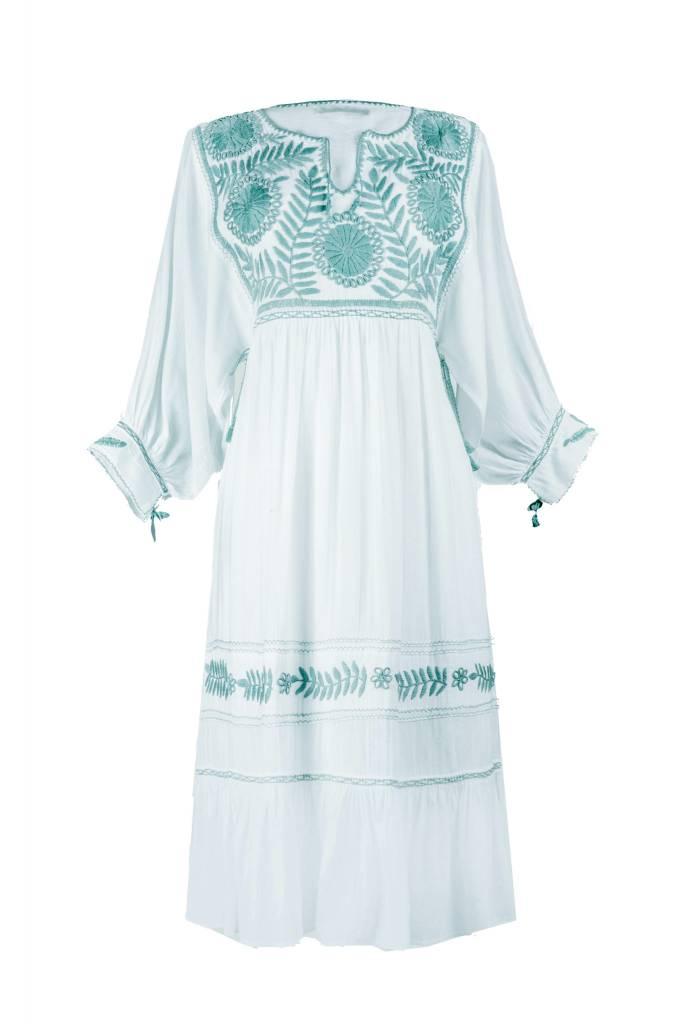 Santa Lupita Kleid Eden Garden Dress White Mint