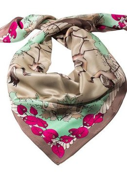 Antilope Silk Scarf, Antilope, Flamingo