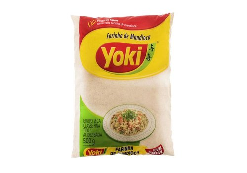 Yoki Raw manioc flour - Farinha de Mandioca Crua Yoki 500g