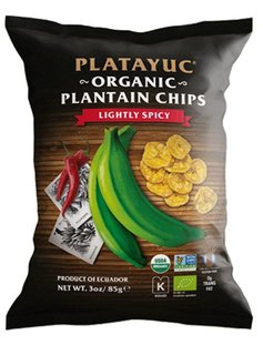 Platayuc Organic Banana Chips lightly spicy