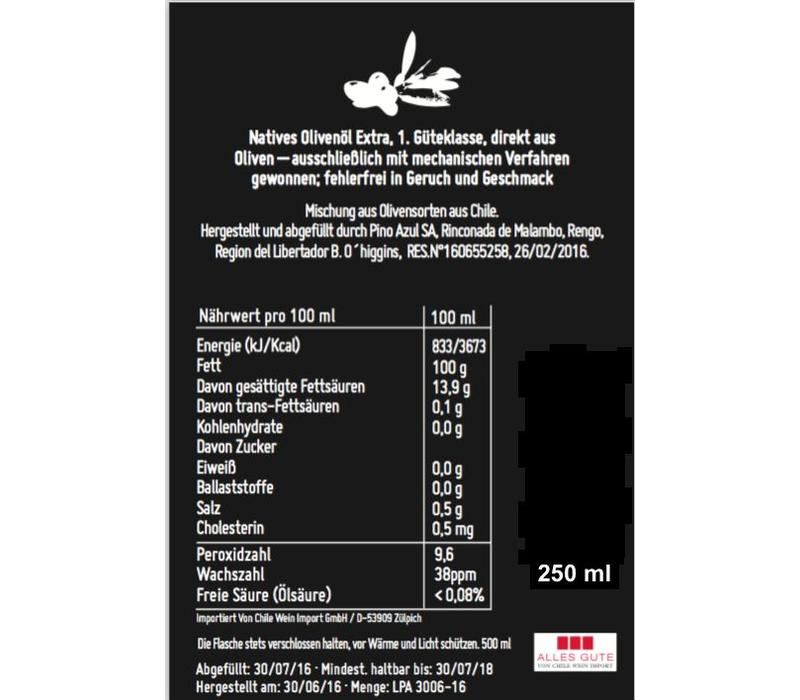 OLIVE OIL EXTRA VIRGIN CHILE -250ml