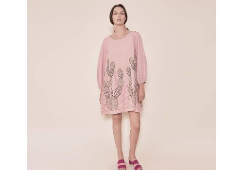 Santa Lupita Dress The Nopales Dress Pink