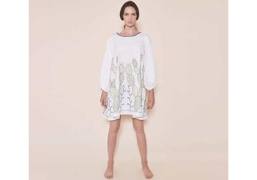 Santa Lupita Dress The Nopales Dress White