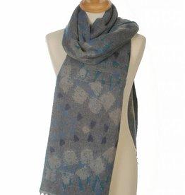 Sjaal Print Blauw
