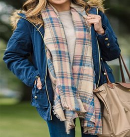 Blanket Scarf Posh Plaid Roze