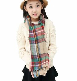 Kindersjaal Posh Plaid Creme