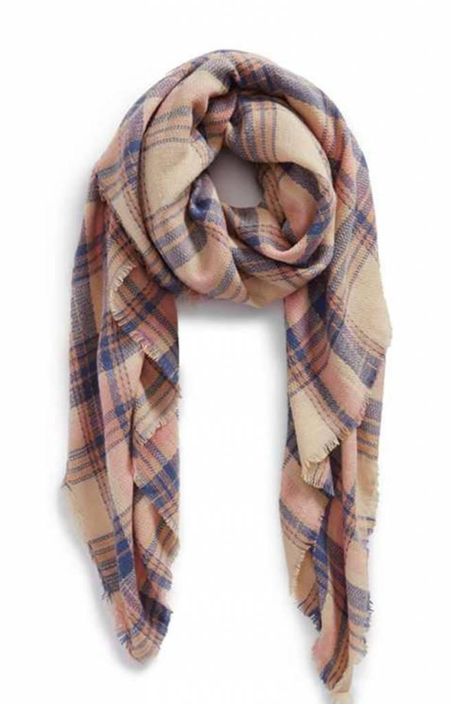 Sjaal Posh Plaid Roze / Blanket Scarf