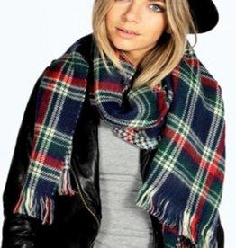 Sjaal Tartan Twist Blauw