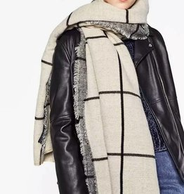 Sjaal Big Plaid Creme