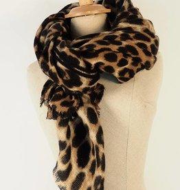 Sjaal Go Wild Leopard Print