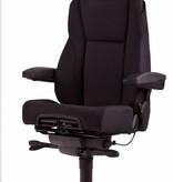 Kantoormeubelen Plus 24-uurs bureaustoel A381, zwart stof