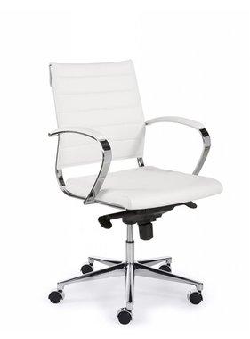 ABC Kantoormeubelen Bureaustoel Design Luxe Wit