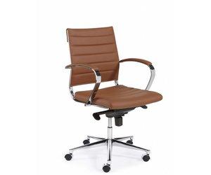 Bureaustoel design luxe bruin ✅ kantoormeubelen plus