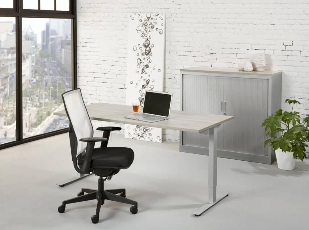 Hoogte verstelbaar t poot bureau design ✅ kantoormeubelen plus