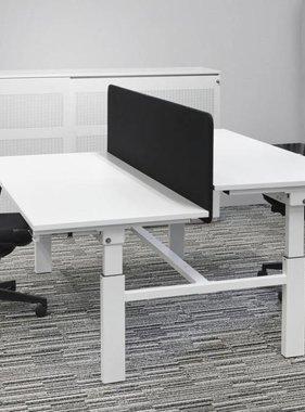 ABC Kantoormeubelen Multifunctionele met slinger verstelbare duo bench werkplek.