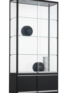 ABC Kantoormeubelen Glazen vitrinekast met 3 legborden