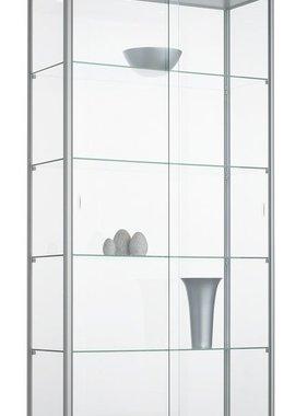 ABC Kantoormeubelen Glazen vitrinekast met 4 legborden