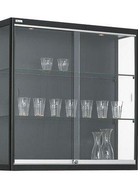 ABC Kantoormeubelen Wandvitrine met gehard glas
