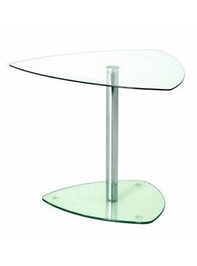 ABC Kantoormeubelen Glazen Bijzettafel of salontafel voor de receptie op kantoor 45x50x50 (hbd)
