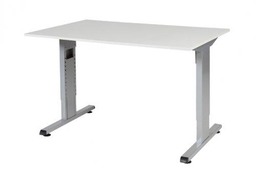 T-lines bureau, hoogte instelbaar (61-90cm) met 120x80cm 20mm blad ...