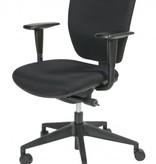 Schaffenburg Bureausstoel NEN-EN1335 zwart gestoffeerd