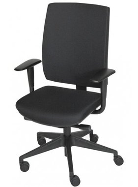 Schaffenburg Bureausstoel 350-NEN zwart gestoffeerd