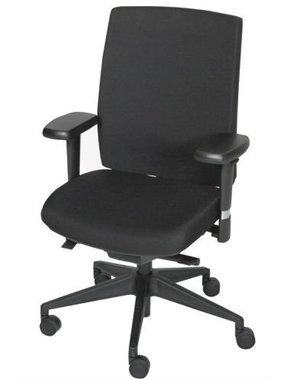 Schaffenburg Bureausstoel 450-NPR zwart gestoffeerd