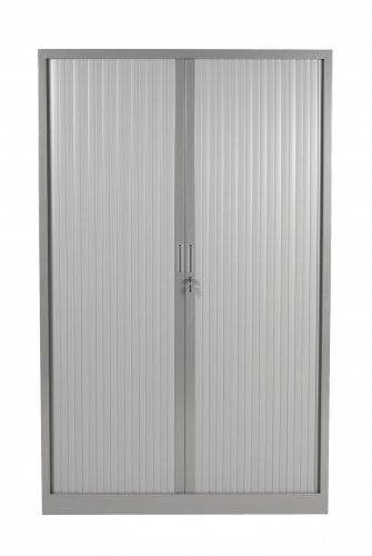 Schaffenburg Aurelius roldeurkast 198x120x43cm, ombouw-en lamellenkleur . Voorzien van1-puntssluiting, genummerd slot, stalen slot eneindlamel. De handgrepen zijn in de eindlamelverzonken. Kast incl. 4 legborden.