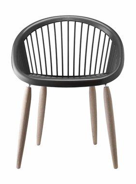 Kantoormeubelen Plus Julia Naturel  Design stoel met houten poten