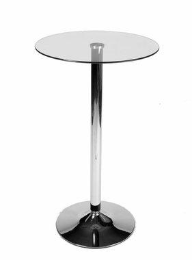 Kantoormeubelen Plus Glazen bistrotafel rond 105 cm