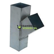 T-stuk zink 100x100mm vierkant 45 graden