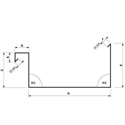 Zetwerk zink - Dakgoot op maat Type 6