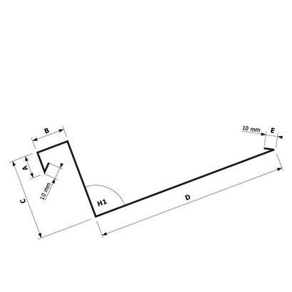 Zetwerk zink - Dakgoot op maat Type 6 .1