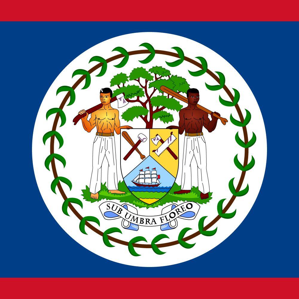 Belize flag Abbildung und Bedeutung Flagge von Belize - country flags
