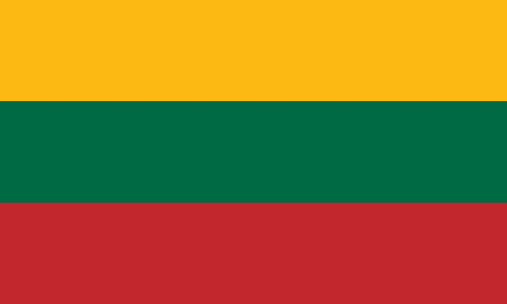 Van Clipart Vlag van Litouwen afbe...