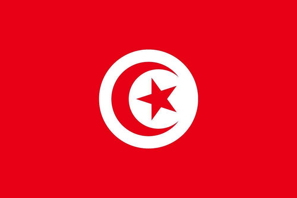 Rode vlag met witte maan
